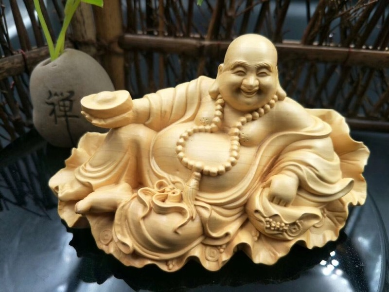 Fortune Mi Le Buddha Carving